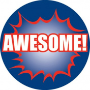 Ace Label 17589C 'Awesome!' Teacher School Stickers, 2.5cm , Multicolor, 100 Per Roll