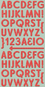 Cosmo Cricket Red Line Ready Set Chipboard Stickers, 15cm -by-30cm