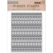 Hero Arts Cling Stamps - Snowflake Borders Background