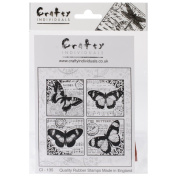 Crafty Individuals Unmounted Rubber Stamp 12cm x 18cm Pkg-4 Beautiful Butterflies