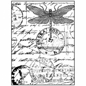 Crafty Individuals Unmounted Rubber Stamp 12cm x 18cm Pkg-Dragonfly Post