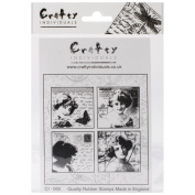 Crafty Individuals Unmounted Rubber Stamp 12cm x 18cm Pkg-Love Letter Ladies