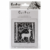 Crafty Individuals Unmounted Rubber Stamp 12cm x 18cm Pkg-Magical Reindeer