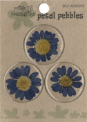 Die Cuts With A View Round Daisy Stickers, Blue