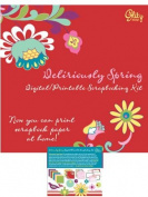 Deliriously Spring Digital/printable Scrapbooking Kit Cd