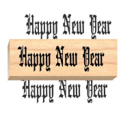 Ruth's Jewish Stamps Wood Mounted Rubber Stamp - Happy New Year