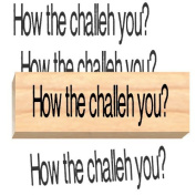Ruth's Jewish Stamps Wood Mounted Rubber Stamp - Challah You.