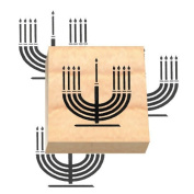 Ruth's Jewish Stamps Wood Mounted Rubber Stamp - Menorah