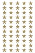 Ace Label 6007AL Teacher Star School Stickers, 1.3cm , Gold, 8 Sheets