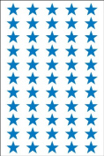 Ace Label 6010AL Teacher Star School Stickers, 1.3cm , Blue, 8 Sheets
