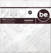Bare Elements 12x12 Chipboard Die Cut Sheets, 3/Pkg