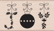Joy Ornaments Wood Mounted Stamp