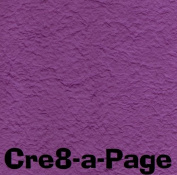 Cre8-a-Page E-16 Handmade Purple Embossed Paper 12x12 Scrapbooking, 10 Sheets