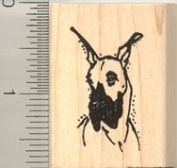 Great Dane Portrait Rubber Stamp - Wood Mounted