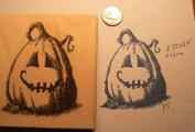 Halloween Pumpkin Rubber Stamp