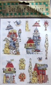 Provo CRAFT Designer STICKERS 2 Sheets NOAH'S Collection For SCRAPBOOKS & MEMORY BOOKS