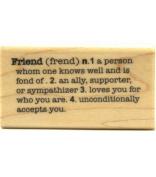 Rubber Stampede - Friend Stamp