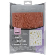 Sizzix Textured Impressions Embossing Folder & Stamp Set By Hero Arts
