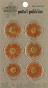 Die Cuts With A View Round Daisy Stickers, Orange