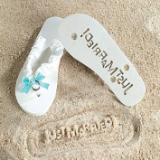 Just Married Flip Flops - Stamp Your Message in the Sand!