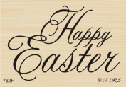 Medium Script Happy Easter Rubber Stamp By DRS Designs