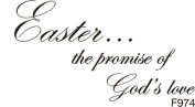 Easter Is God's Love Greeting Rubber Stamp
