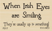Smiling Irish Eyes Greeting Rubber Stamp By DRS Designs