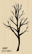 Single Fall Tree Rubber Stamp By DRS Designs