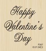 Medium Script Valentine's Day Rubber Stamp By DRS Designs