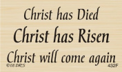 Christ Has Died Risen Greeting Rubber Stamp By DRS Designs
