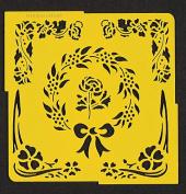 Flower Wreath Pergamano Stencil