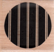 Large Wide Stripe Circle Wood Mounted Rubber Stamp