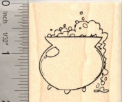 Witch's Cauldron Halloween Rubber Stamp