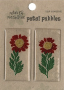 Die Cuts With A View Rectangle Daisy Stickers, Red