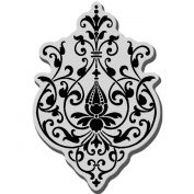Stampendous Cling Rubber Stamp-Scrolled Medallion