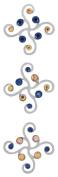 Karen Foster Bubbly Classy Brads Design Scrapbooking and Craft Embellishment