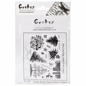 Crafty Individuals Unmounted Rubber Stamp 12cm x 18cm Pkg-Mini Christmas Trees