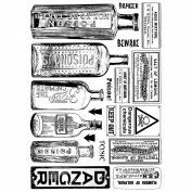 Crafty Individuals Unmounted Rubber Stamp 12cm x 18cm Pkg-Poison & Danger