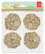 BasicGrey Facts and Fiction Collection Printed Tissue Flowers