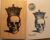 Skull with crown rubber stamp