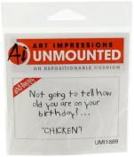 Art Impressions Chicken! Rubber Stamp