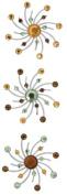 Karen Foster Swirl Burst Brads Design Scrapbooking and Craft Embellishment, Carmel Apple