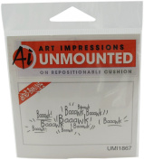 Art Impressions Baaawks Rubber Stamp
