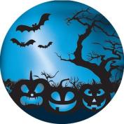 Ace Label 12589C Teacher Halloween Pumpkins School Stickers, 6.4cm , Blue/Black, Roll of 100