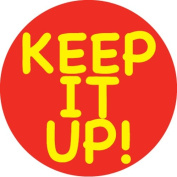 Ace Label 13589C 'Keep it Up' Teacher School Stickers, 6.4cm , Red/Yellow, Roll of 100
