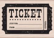 Hero Arts Woodblock Stamp, Ticket