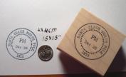 Santa Claus Postmark rubber stamp
