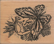 Butterfly Safari Wood Mounted Rubber Stamp