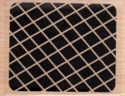 Rectangular Reverse Criss-Cross Wood Mounted Rubber Stamp