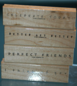 STAMPIN UP SET OF 4 STAMPS - SIMPLE SAYINGS 2001 RETIRED